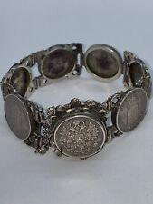 Antikes Silbernes Münzarmband