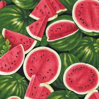 Fabri-Quilt Farmer John's Garden Party Watermelon 100% cotton Fabric by the yard