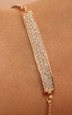 14K Rose Gold Finish Adjustable Diamond Tennis Bracelet 1ct Classy and Elegant