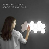 LED Quantum Hexagonal Wall Lamp Modular Touch Sensor Light Fixtures Living Room