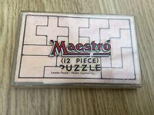 Vintage 1960s Lecado 12 piece puzzle Maestro