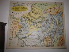 Carte Affiche scolaire Varon type Vidal Bassin Parisien