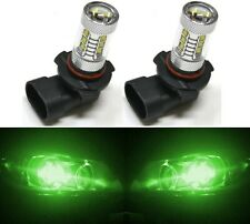 LED 80W 9005 HB3 Green Two Bulbs Head Light High Beam Replacement Show Use
