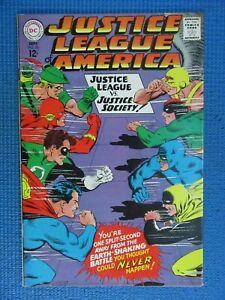 JUSTICE LEAGUE OF AMERICA # 56 - (VF) -JUSTICE LEAGUE VS JUSTICE SOCIETY-BATMAN