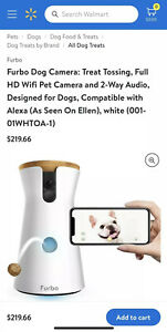 Furbo Dog Camera: Treat Tossing Full HD WiFi Pet Camera (Brand New Sealed Box's)