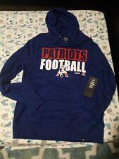 New England Patriots  football Hooded Sweatshirt NFL Hood Shirt '47 Brand . XL .