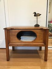 Vintage wood Side Table with hinged top, blanket box, used v. good condition