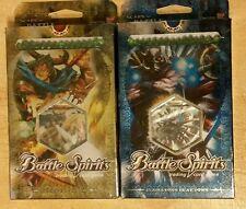 Battle Spirits Sorcerer Blaze & Gladiators Beat Down Sealed Deck Lot of 2