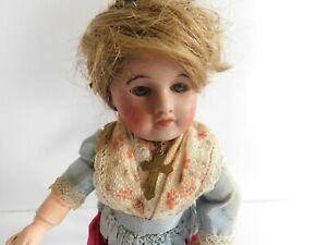 Antique French Bisque Doll SFBJ 60 Paris Glass Eyes Socket Head
