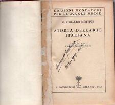 F16 Storia dell'arte italiana Edoardo Mottini Mondadori 1928