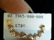 Women's Gold Skillus 4 Heart Stud Ear Cuff Earrings 18k Yellow Gold.