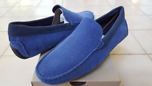 Lacoste Piloter 217 1 Men's Casual Moccasins Suede Loafer Shoes US8 - US12 Blue