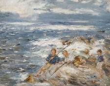 McTaggart William Fishing From The Rocks Print 11 x 14   #5706