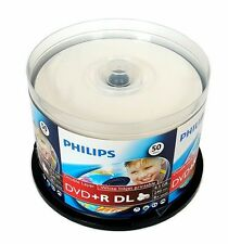 25 PHILIPS 8X DVD+R DL Dual Double Layer 8.5GB Inkjet Printable - Paper Sleeve