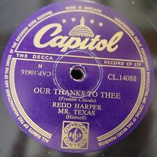 78rpm REDD HARPER MR TEXAS our thanks to thee / lord keep your hand on me
