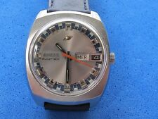 VINTAGE ENICAR AUTOMATIC CAL.A-R 167 MENS 36 X 40mm DAY-DATE REF.147-01-015 SWIS
