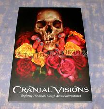 CRANIAL VISIONS Softcover Tattoo SKULL Machine MIKE DEVRIES Gun Kit Flash BOOK