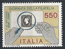 1986 ITALIA GIORNATA DELLA FILATELIA MNH ** - ED