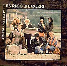 """33 giri ENRICO RUGGERI -  LA PAROLA AI TESTIMONI (ITA 1988 CGD 20846)  12"""" LP"""