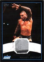 WWE Randy Orton 2012 Topps BLACK BORDER Event Worn Shirt Relic Card /50 3 Color