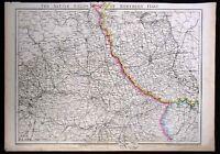 1860 Weekly Dispatch Map - N. Italy Battle Fields Turan