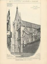 Eglise Saint-Séverin à PARIS 1899 - Raguenet Architecture - 63