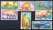 Animaux Préhistoriques Mongolie (17) série complète 7 timbres oblitérés