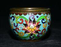 """3""""Chine ancienne en émail cloisonné Bronze dynastie Pot de fleurs Pot Crock"""