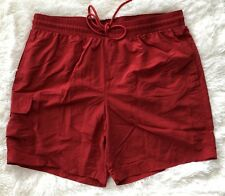 Men's Cabela's Red, Lined, Elastic/Drawstring Waist, 3 Pocket, Swim Trunks-sz XL