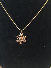 Michal Negrin Snowflake Necklace Swarovski Crystal Pendant $55