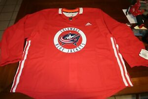 COLUMBUS BLUE JACKETS Authentic Home Practice Hockey Jersey Sweater Adidas 58