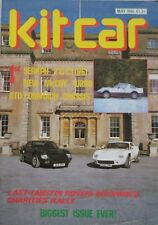 Kit Car magazine 05/1986 featuring McCoy Turbo, Beauford, Arkley, Seraph, Alto
