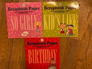 3 Me & My Big Ideas Scrapbooks For Kids: Birthday, So Girly, A Kids Life