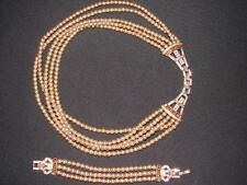 "Heidi Daus ""Heidi's Master Clasp"" Multistrand Beaded Necklace and Bracelet Set"