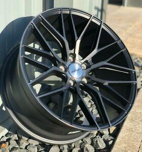 "20"" Inovit Blitz Alloy Wheels 5x112 Black Machined fits Audi A4   A5   A6   TT"