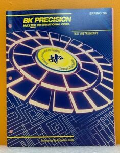 BK Precision / Maxtec 1996 Engineering Specification Guide (Catalog).