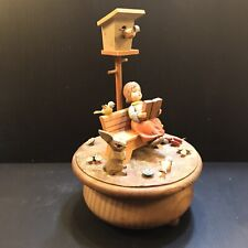 "Anri THOREN Music Box ""HAPPY TALK"" WOODEN MUSIC BOX"
