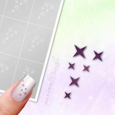 Schablonen für Airbrush und Nailart ST008 Stern Star Sterne 80 Stk. klebend