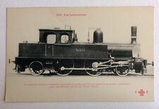 CPA. Locomotive Tender à 2 essieux. Train. Chemins de Fer de l'État danois.