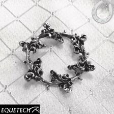 Equetech Floret Stock Pin – Silver Plated – Garland Design – FREE P&P