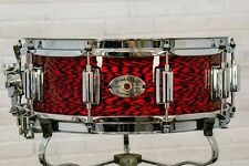 """Rogers Dynasonic 5"""" x 14"""" Wood Shell Snare Drum - Red Onyx w/ Beavertail Lugs"""