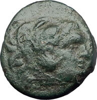 LYSIMACHOS 297BC Thrace King Authentic Ancient Greek Coin HERCULES WREATH i64381