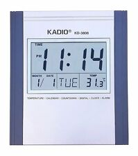 Kadio KD-3808 Digital Wall Mount & Table Temperature Display Clock