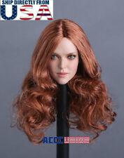 "1/6 Female Head Sculpt A For 12"" PHICEN TBLeague Hot Toys Female Figure U.S.A."