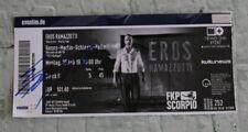 "ORIGINAL Autogramm. Eintrittskarte: Eros Ramazzotti. 100 % ECHT. ""Vita Ce N´e"""