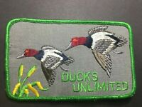 Vtg Fabric Patch Ducks Unlimited Red Head Ducks Flying Hunting Conservation