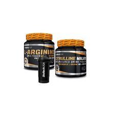 Biotech USA PUMP Paket mit je 300g Citrullin & Arginine für mehr Pump + Shaker