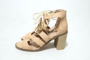 Size 8 Womens Open Toes Mule Straps Lace Up Block