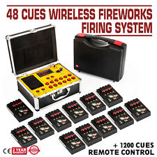 48 Cues Fireworks Firing System Control Equipment AC Smart Digital Igniters