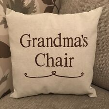 Laura Ashley Austen Personalised Grandma's Chair Cushion Cover Embroidered